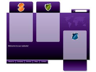 Stylish purple website design