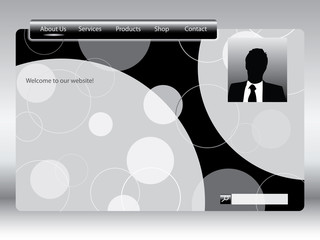 Black and white web template