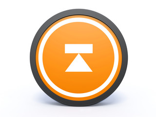 eject circular icon on white background