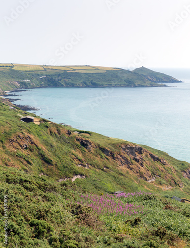 Rame Head Whitsand Bay Cornwall coast England UK