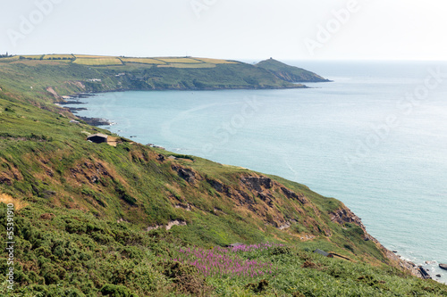 View to Rame Head Whitsand Bay Cornwall coast