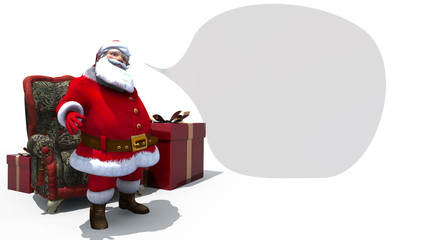 Santa with Speech bubble loop.
