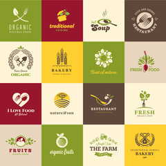 Set of icons for food and drink