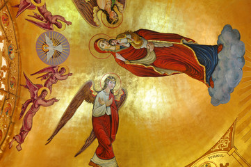 Murals in an orthodox church
