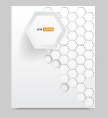 Vector blank Background with 3d element