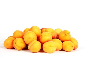 Türkische Aprikosen auf weiß isoliert