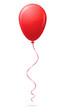 red balloon vector illustration