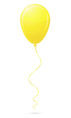 yellow balloon vector illustration