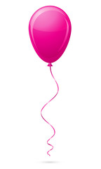 pink balloon vector illustration