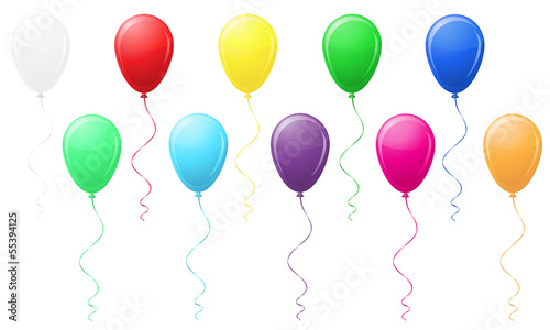 colored balloons vector illustration