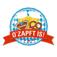 Wiesn-Button: O`Zapft is!