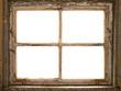 altes Fenster, Fensterrahmen, vintage shabby window - 55394978