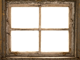 altes Fenster, Fensterrahmen, vintage shabby window