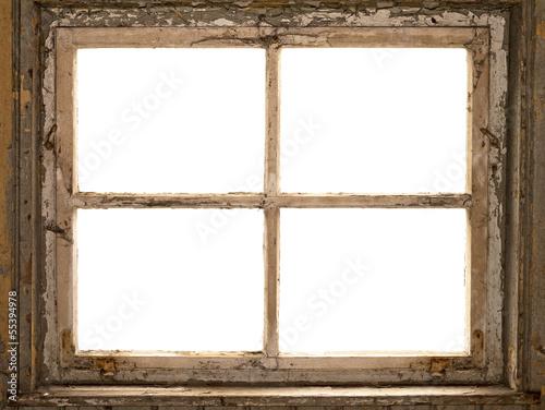 Leinwandbild Motiv altes Fenster, Fensterrahmen, vintage shabby window