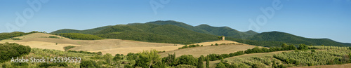 Tuscany landscape, the countryside of Maremma