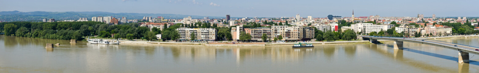 Panoramic cityscape of Novi Sad, Serbia