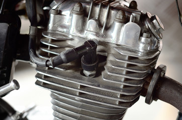 Motorcycle's engine part
