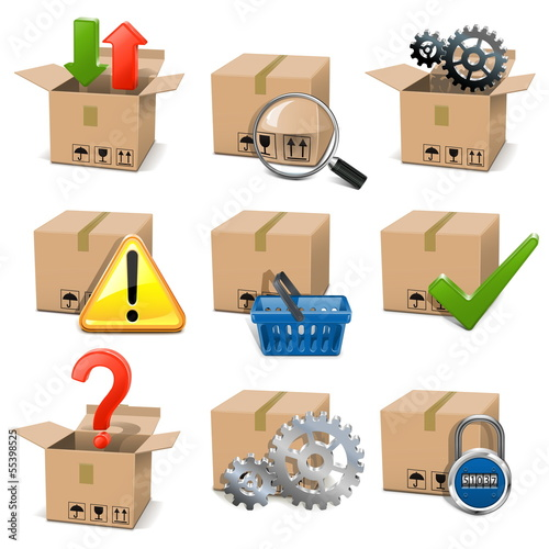 Vector Shipment Icons Set 8