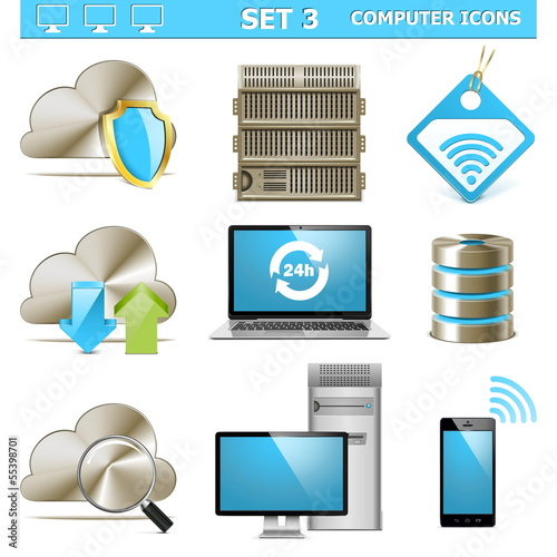 Vector Computer Icons Set 3