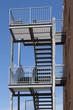 Fluchtweg Treppenhaus an der Außenfassade
