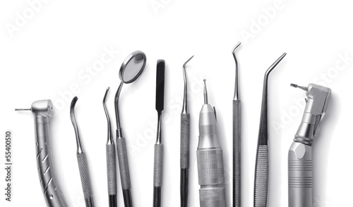 Row of various dental tools - 55400510