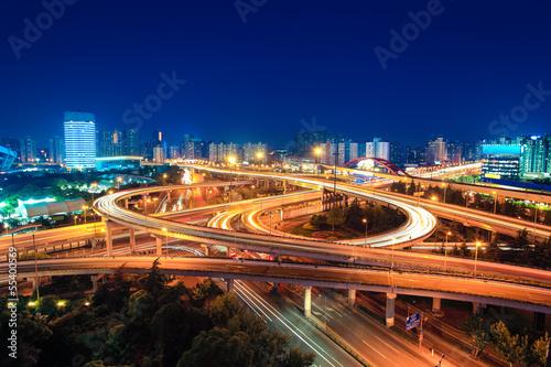 modern overpass in shanghai