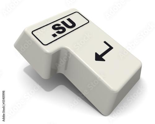 """Клавиша """"ВВОД"""" клавиатуры с доменным именем """".SU"""""""