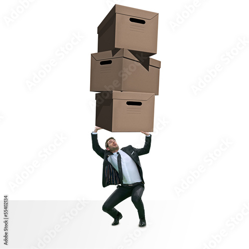 man carrying carton boxes