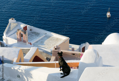 Oia village at Santorini island, Greece