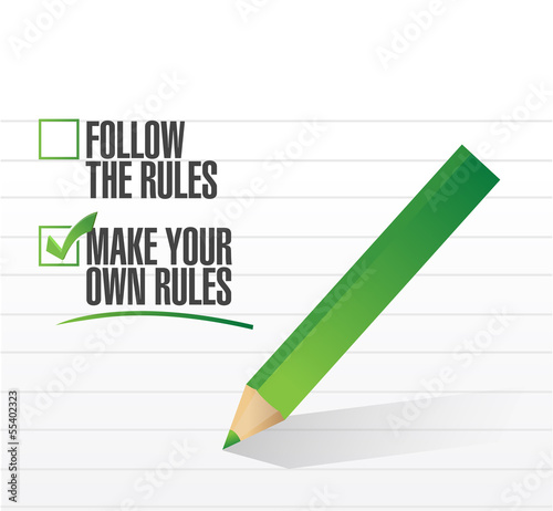 make your own rules check of approval illustration