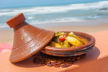 Fish tajine, traditional moroccan dish