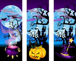 Яркие Баннеры для хеллоуина