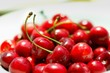 Sweet cherries as a background