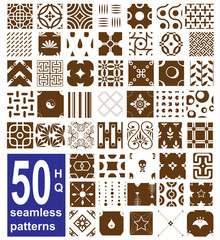 monochrome seamless patterns collection