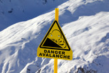Fototapety Avalanche sign