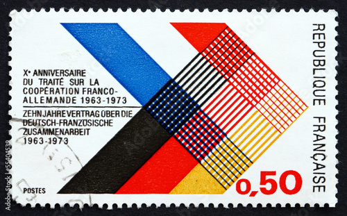 Postage stamp France 1973 Colors of France and Germany Interlace