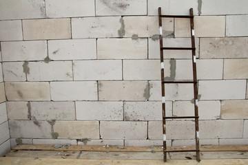stairs near brick wall