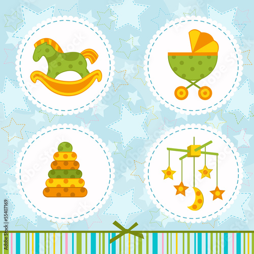set icon baby - vector illustration