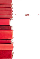 red books in a row with place for your text