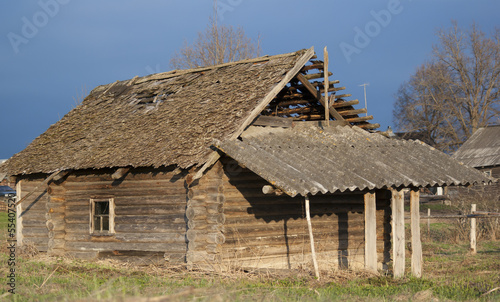 Abandon timbered house