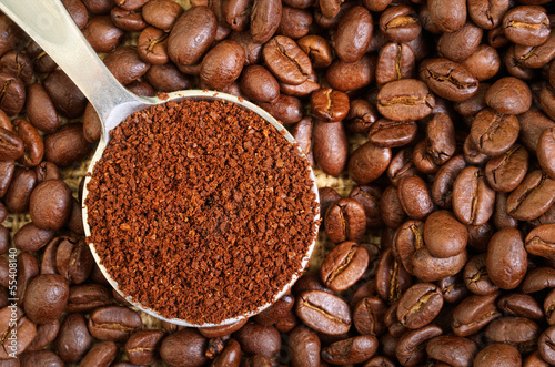Ground and Whole Coffee Beans