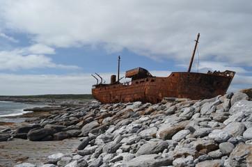 MV Plassy . Ireland . Shipwreck