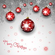 Christmas card with christmas balls - vector illustration - eps