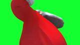 Santa dancing close up against green screen loop