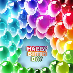 Happy Birthday Card Vector Design