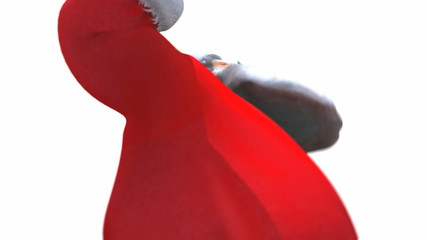 Santa dancing close up with Alpha