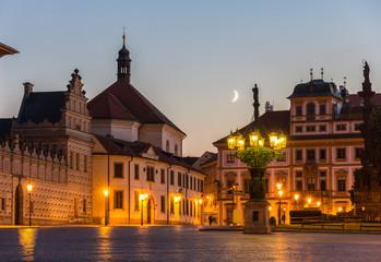 Hradcany Square in Prague - Czech Republic