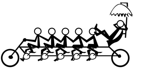 illustration of team working on the bicycle