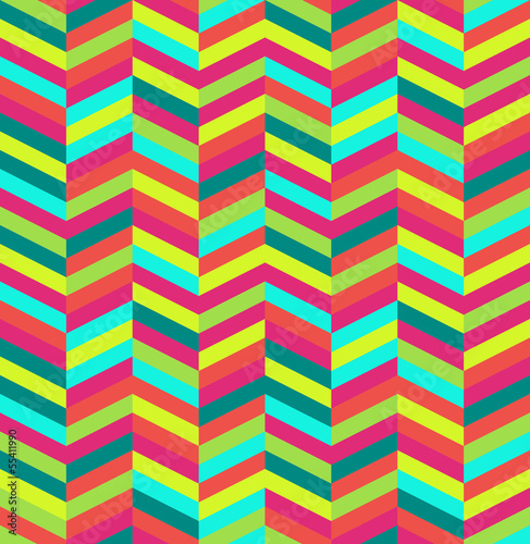 Tuinposter ZigZag Retro abstract seamless pattern.