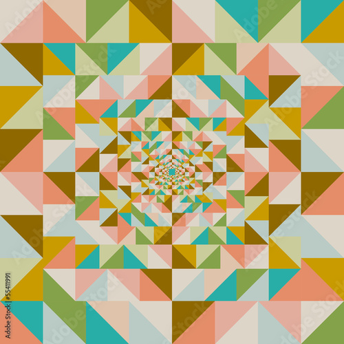 Deurstickers ZigZag Retro abstract visual effect seamless pattern.